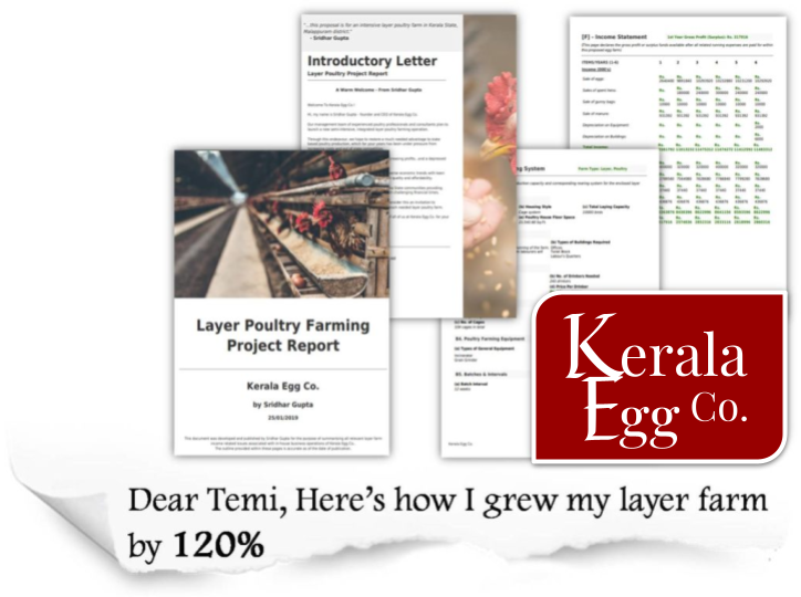 Kerala Egg Co Poultry Farming Project Report